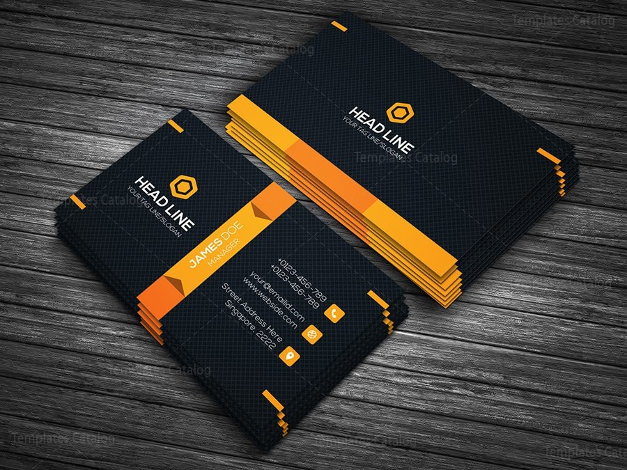 Premium business card template 000090 template catalog premium business card template 3 reheart Image collections