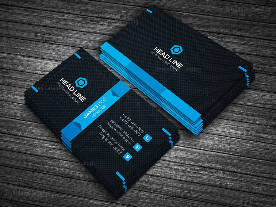 Premium business card template 000090 template catalog premium business card template 4 wajeb