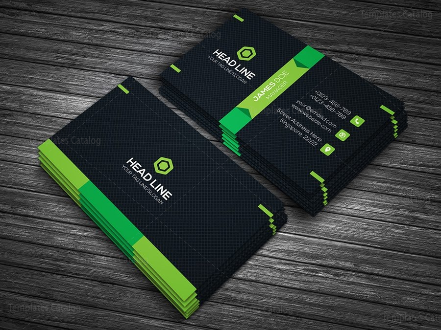 Premium Business Card Template 000090 - Template Catalog