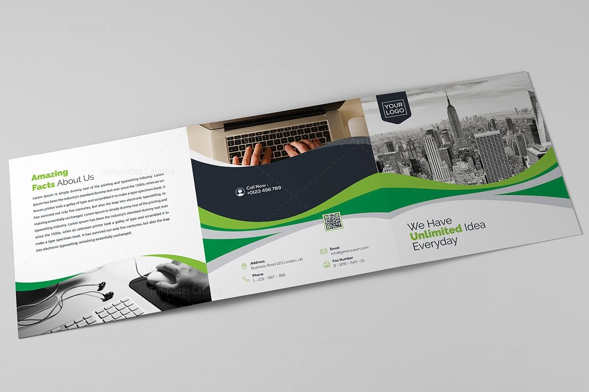 how do you make a trifold brochure