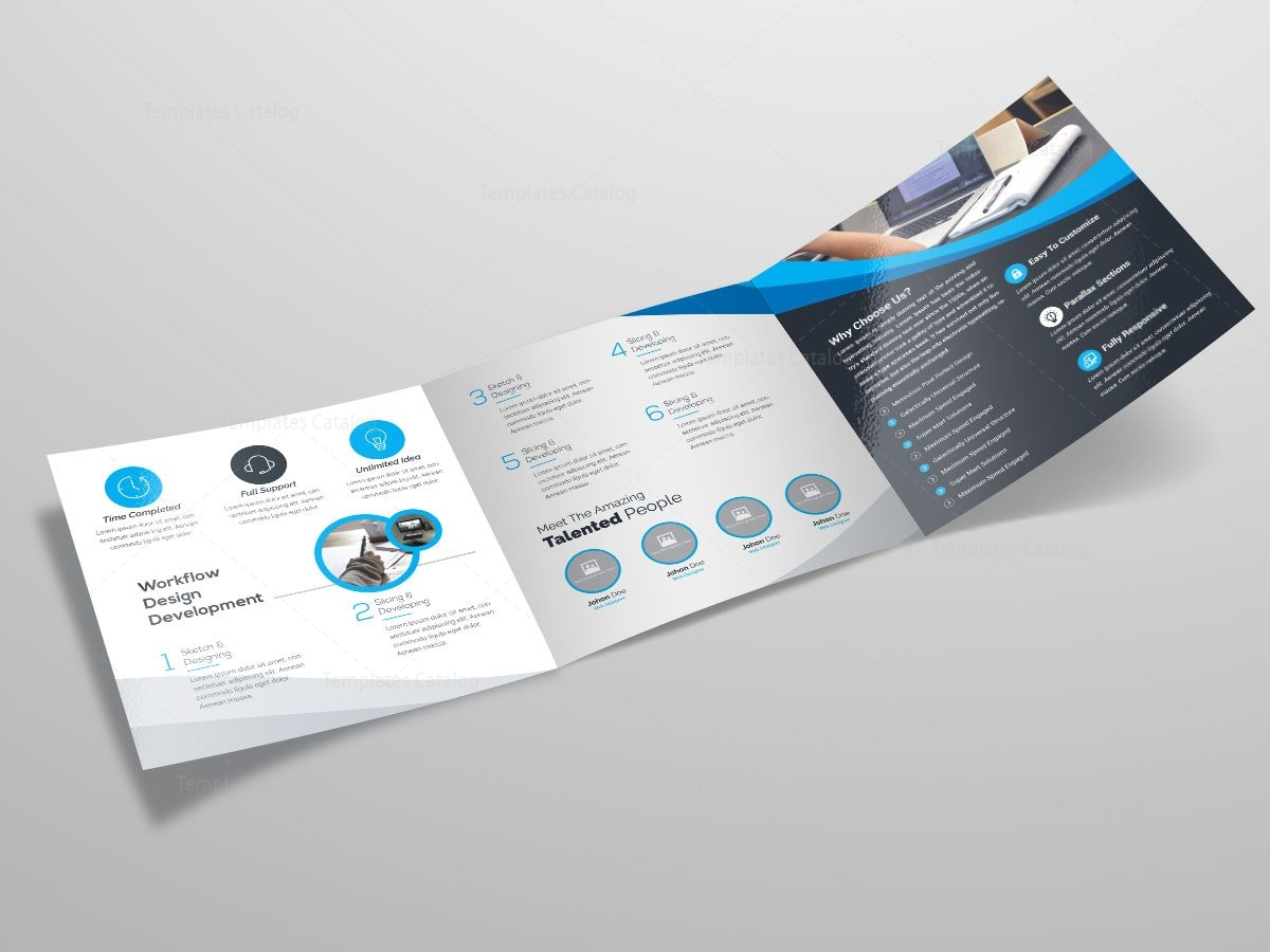 Square trifold brochure template 000086 template catalog for Trifold brochure template