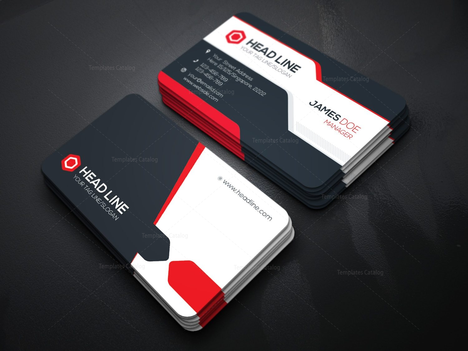 Stylish Visiting Card Template 000085 Template Catalog – Visiting Card