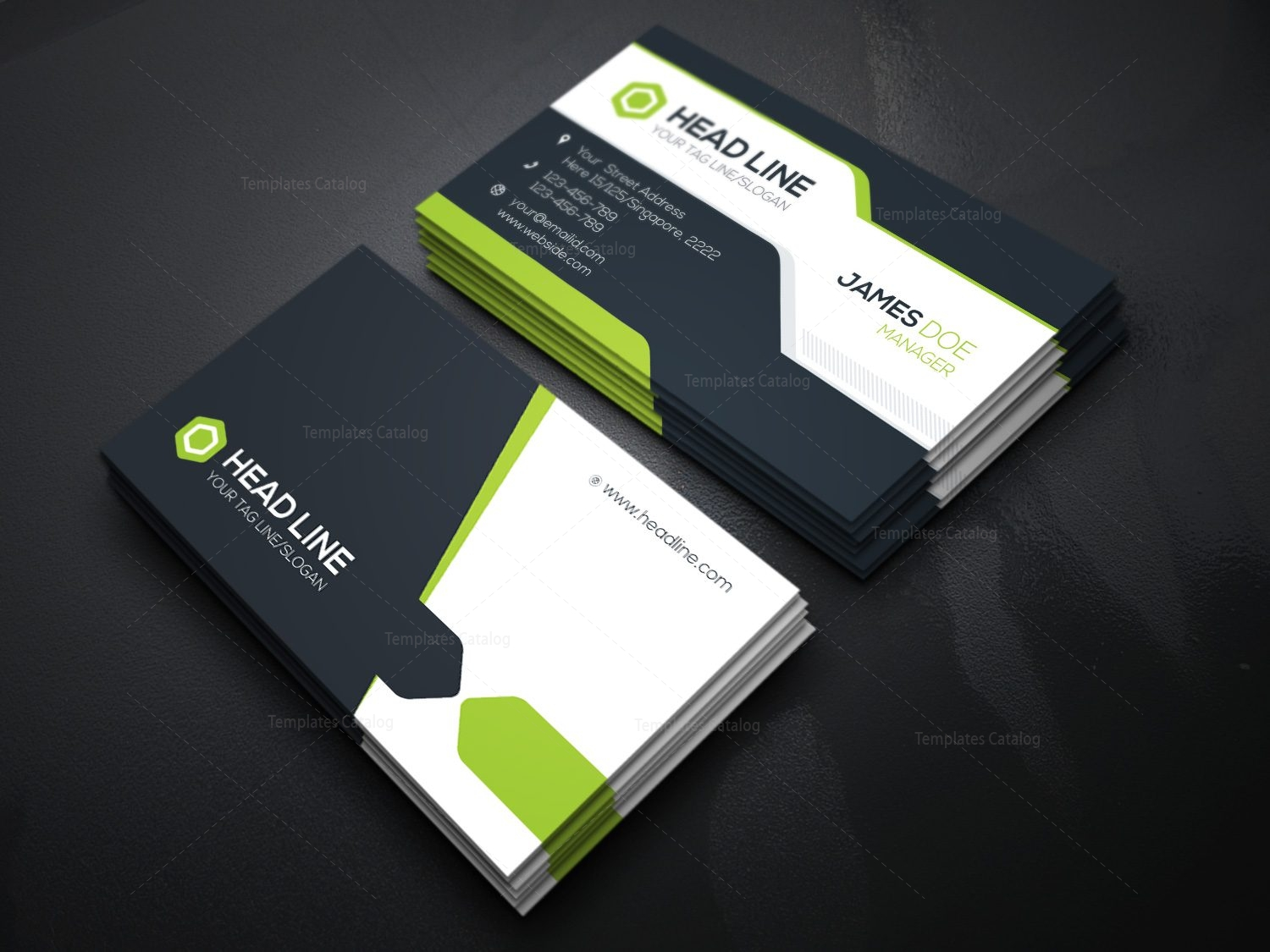 Stylish Visiting Card Template 000085 Template Catalog