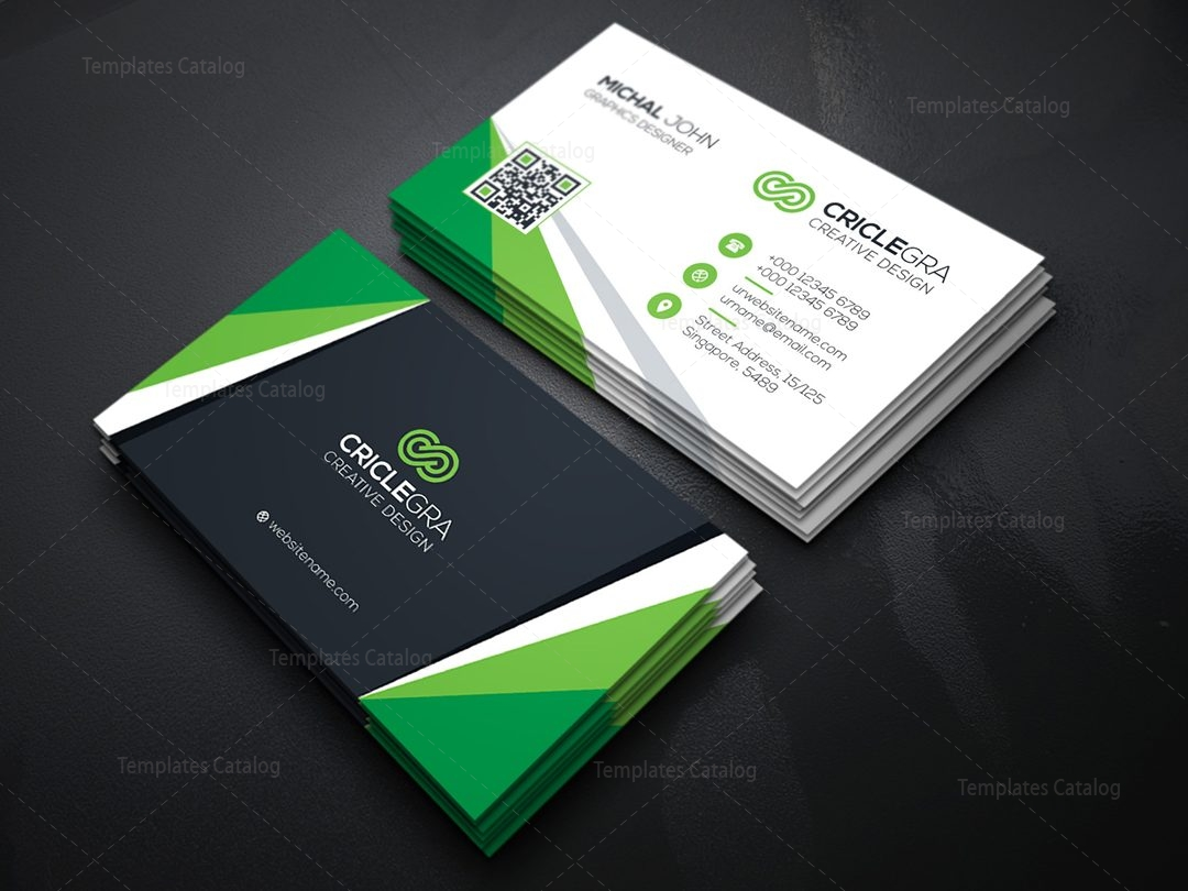Visiting Card Template 000084 - Template Catalog