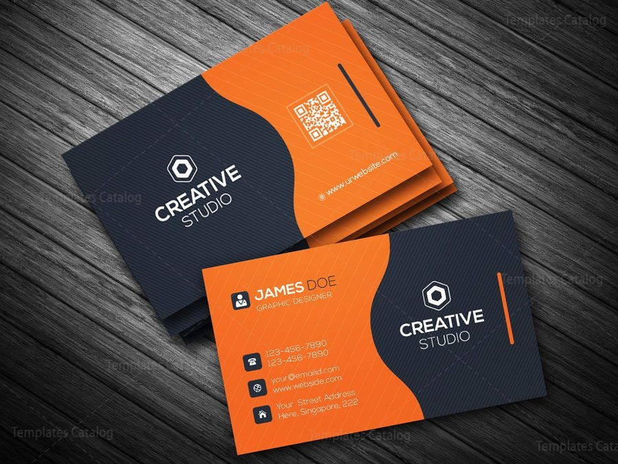 Business card template in eps format 000088 template catalog business card template in eps format 2 reheart Choice Image