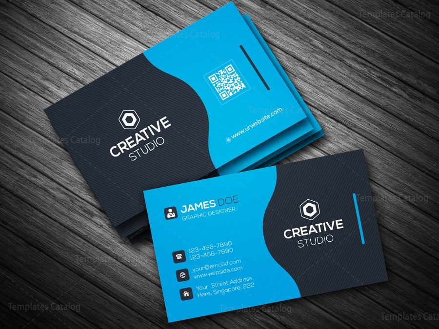 Business card template in eps format 000088 template catalog for Business card eps template