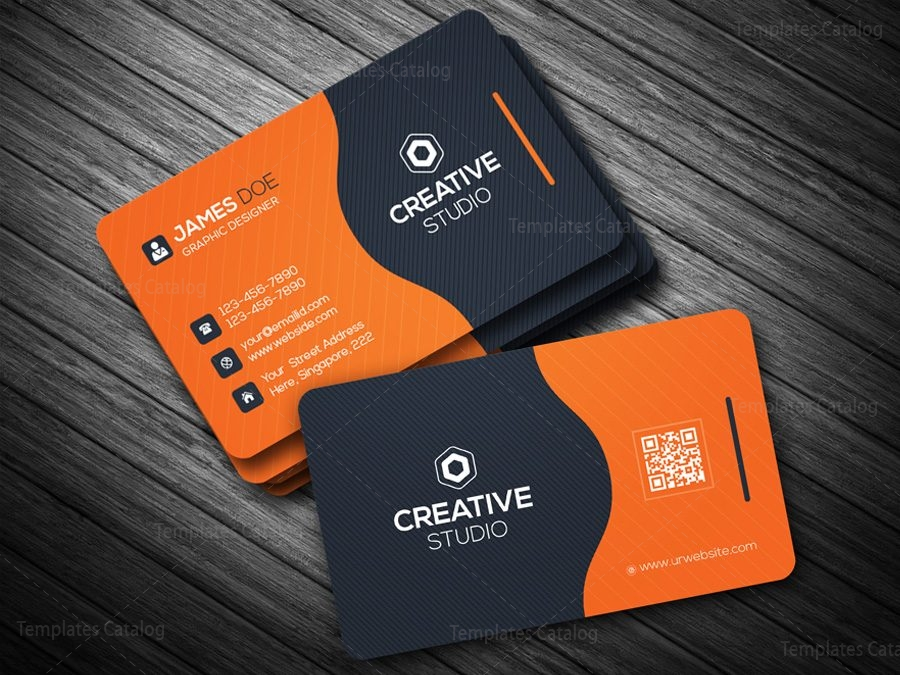 Business card template in eps format 000088 template catalog business card template in eps format wajeb Images