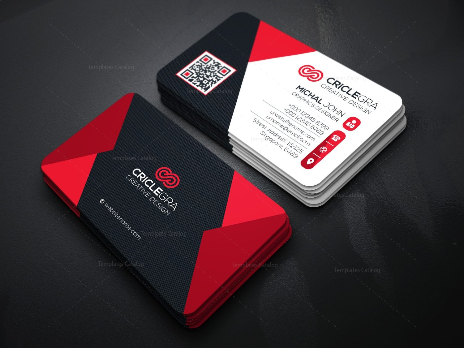 Elegant visiting card template 000087 template catalog home print business cards friedricerecipe Choice Image