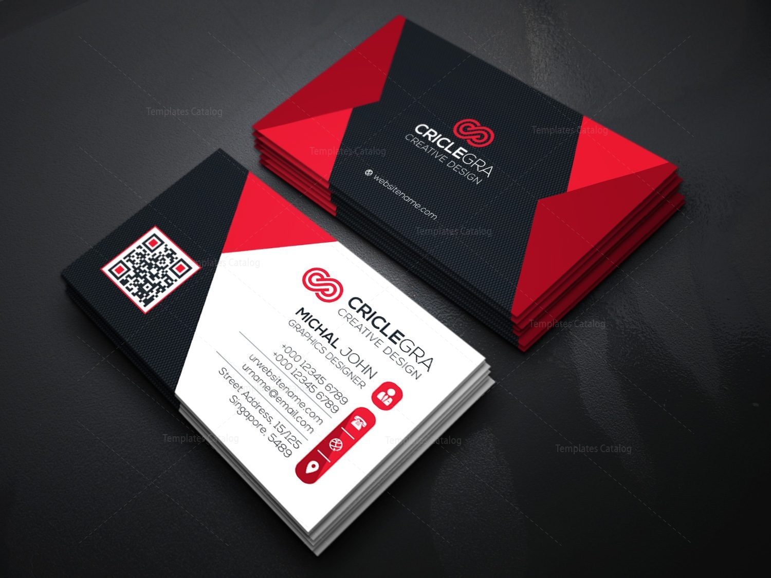Elegant Visiting Card Template 000087 Template Catalog – Visiting Card