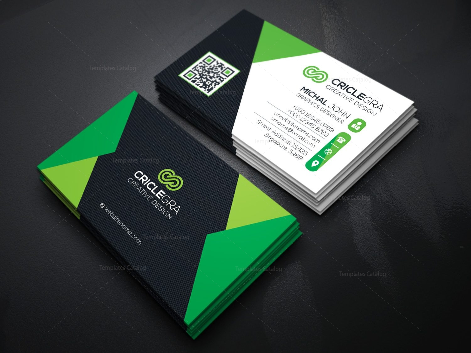 Elegant Visiting Card Template 000087 - Template Catalog