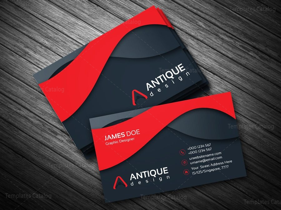 Stylish Multicolor Business Card Template - Template Catalog