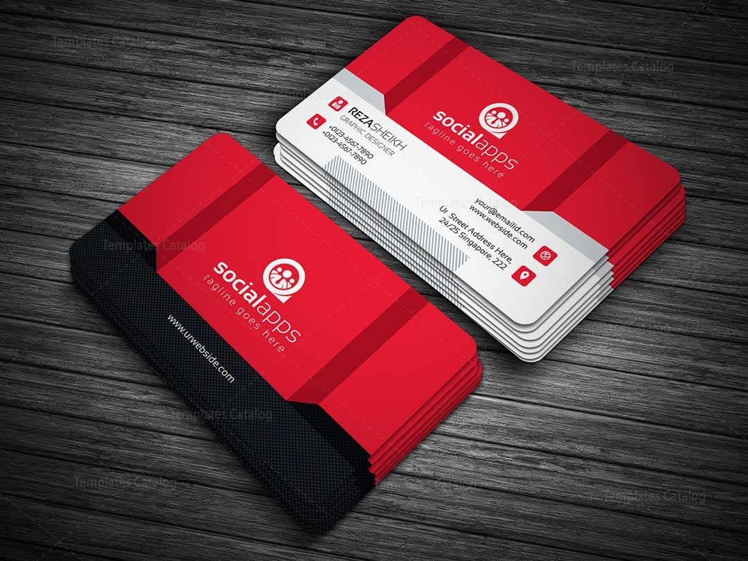 3D Effect Business Card Template 000143 Template Catalog
