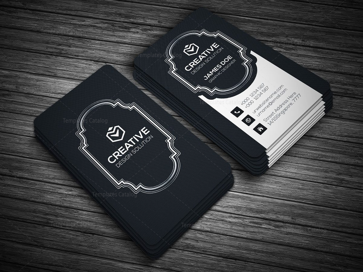 black style vertical business card template 000136 template catalog. Black Bedroom Furniture Sets. Home Design Ideas