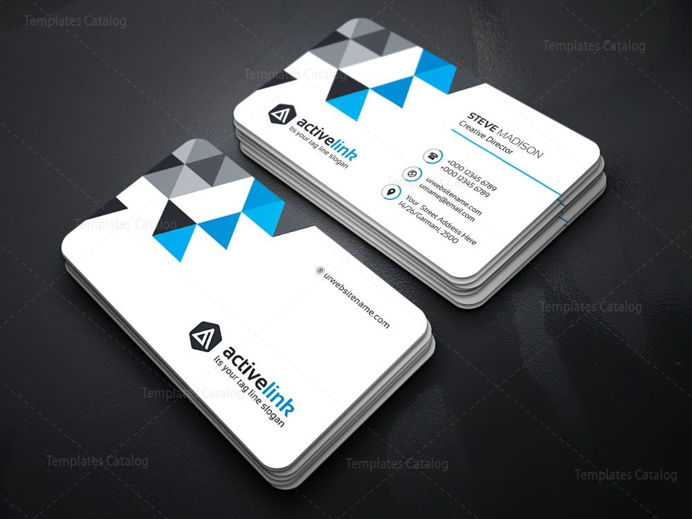 Clean Business Card Template 000120 - Template Catalog