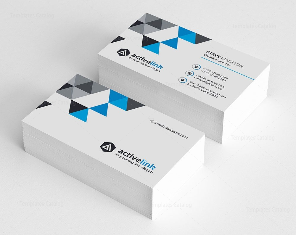 Clean business card template 000120 template catalog clean business card template colourmoves