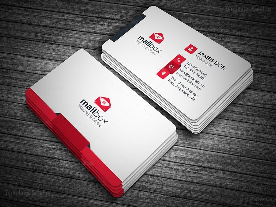 Clean Simple Business Card Template 000148 - Template Catalog