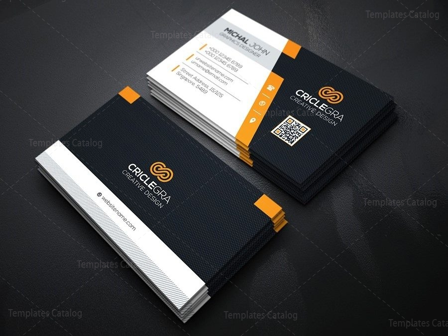 Company business card design template 000162 template catalog company business card design template 3 reheart Gallery