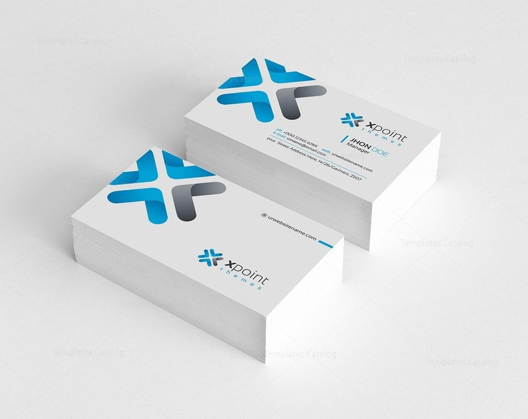 Corporate Business Card Design 000159 - Template Catalog