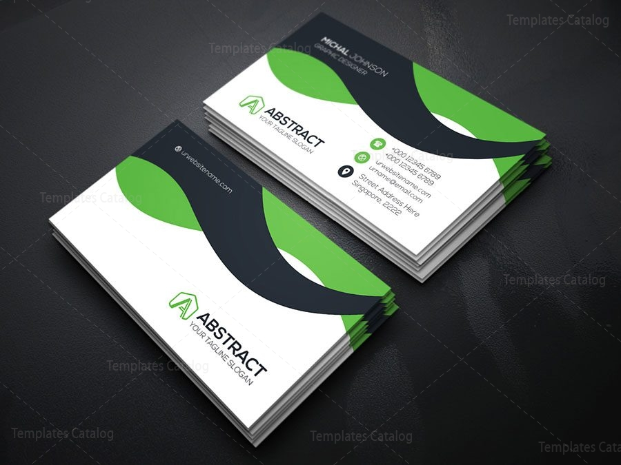 Corporate Visiting Card Template 000174 - Template Catalog