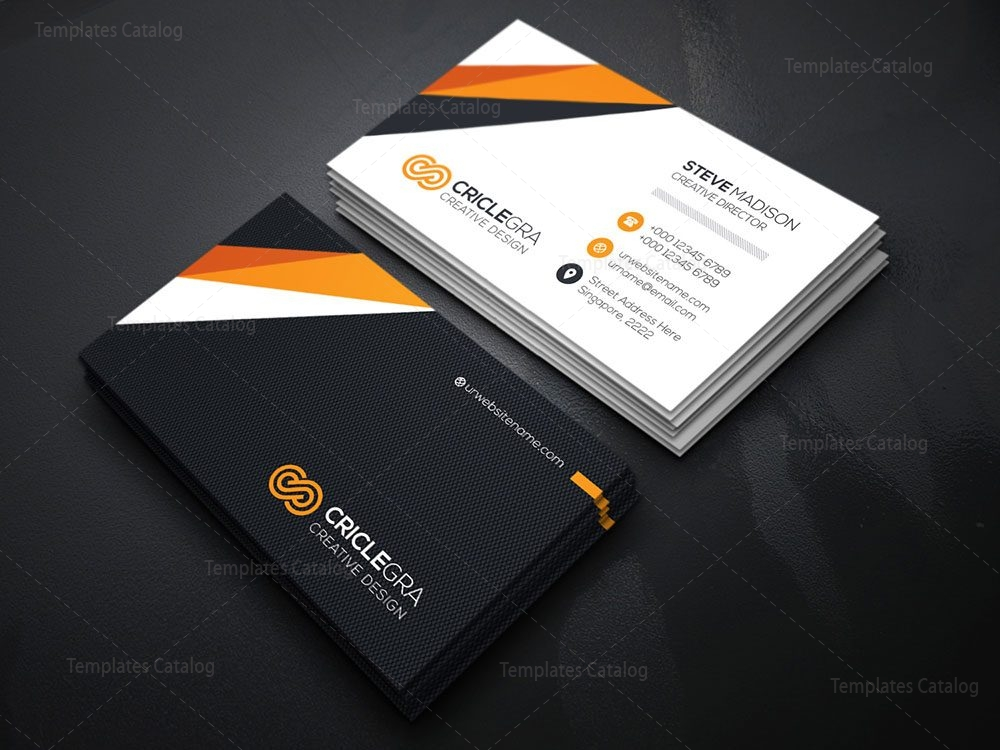 Creative Director Business Card Template 000121 - Template Catalog