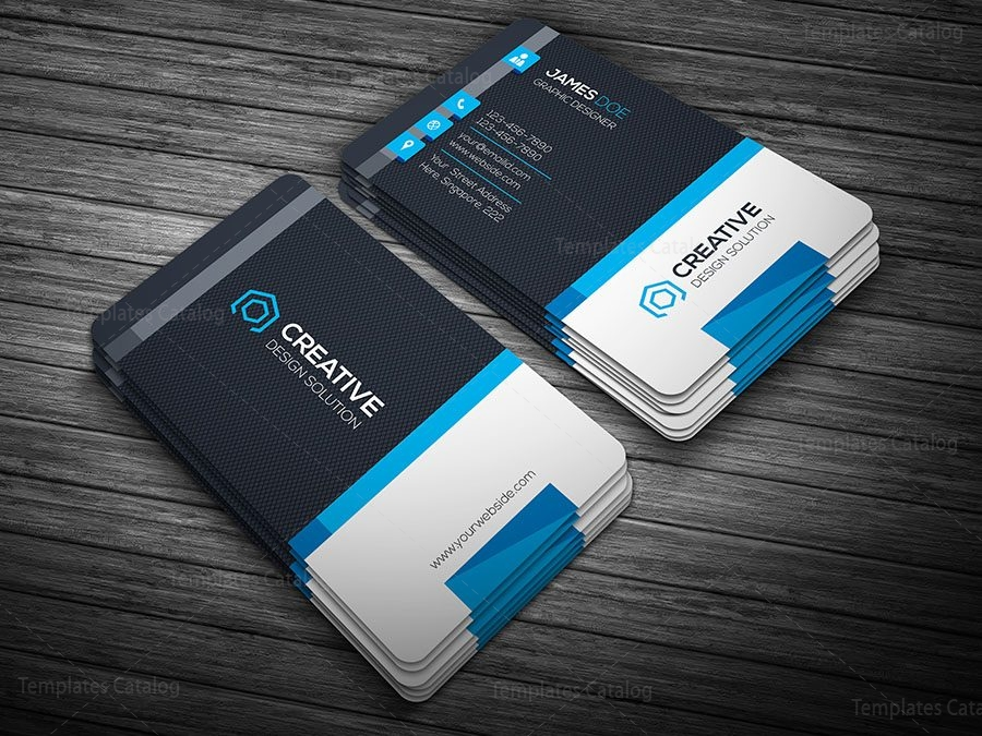 Creative Modern Business Card Template 000101 - Template Catalog
