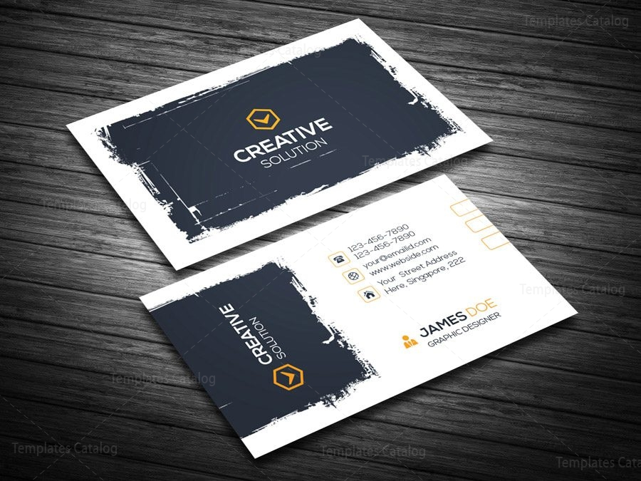 Creative retro business card template 000123 template catalog creative retro business card template 4 friedricerecipe Image collections