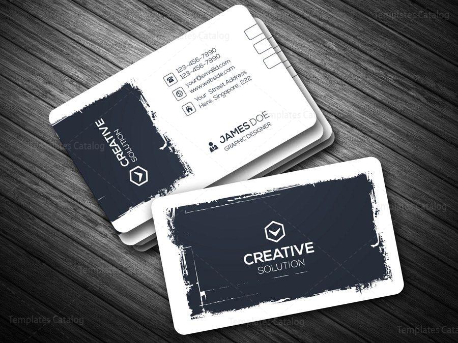 Creative retro business card template template catalog for Retro business card template