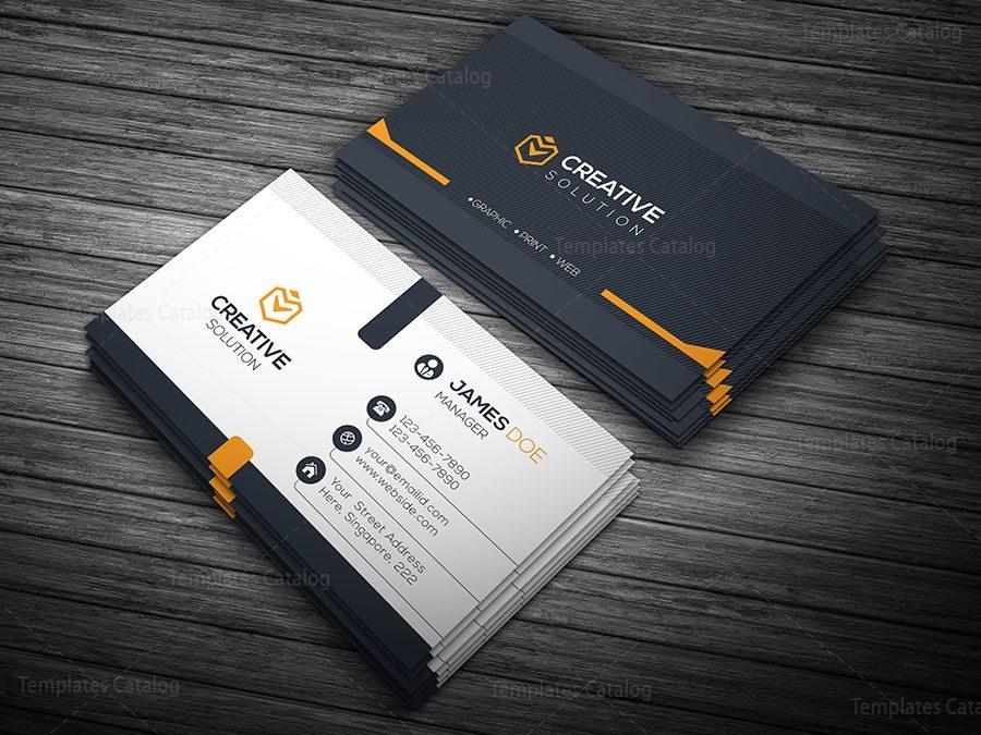 Elegant business card 000112 template catalog elegant business card orange colourmoves