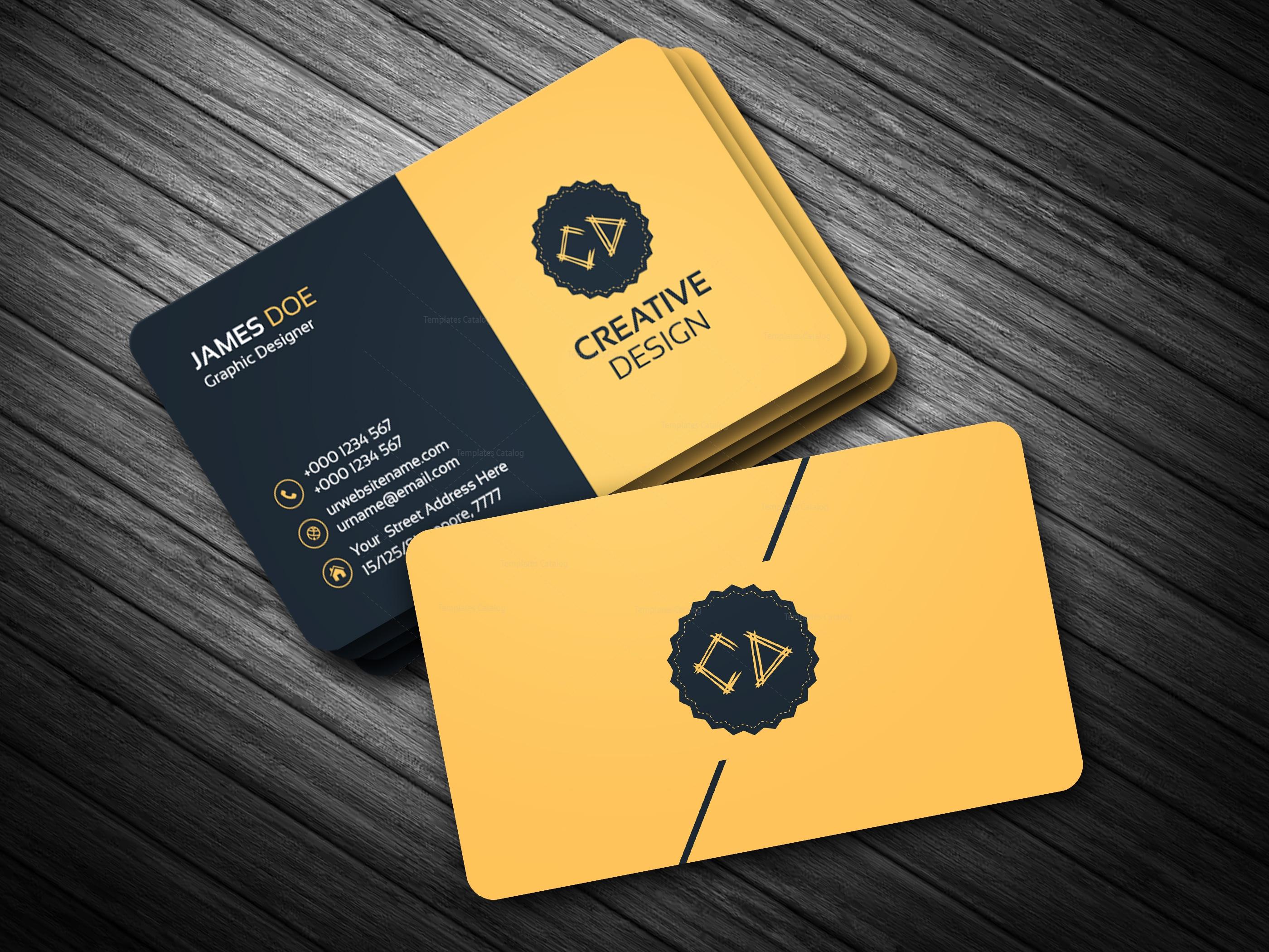 Golden Business Card Template 2