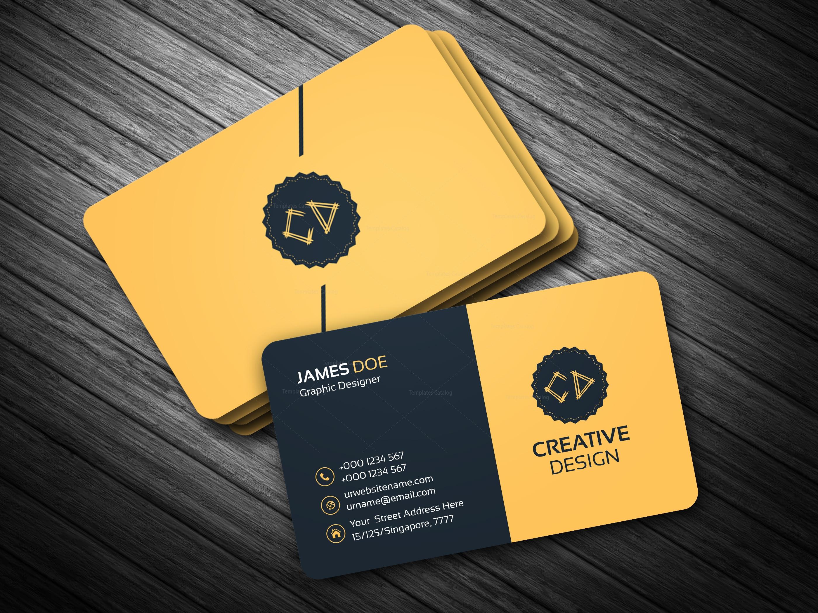 Golden Business Card Template Bundle 000114 - Template Catalog