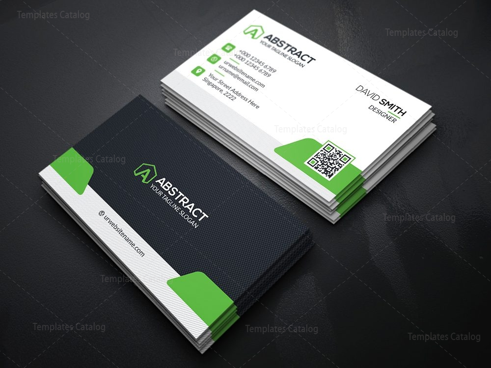 High quality business card template 000113 template catalog high quality business card template green reheart Gallery