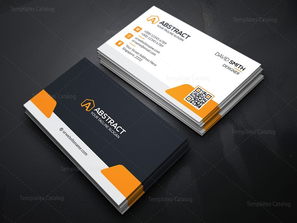 High Quality Business Card Template 000113 - Template Catalog