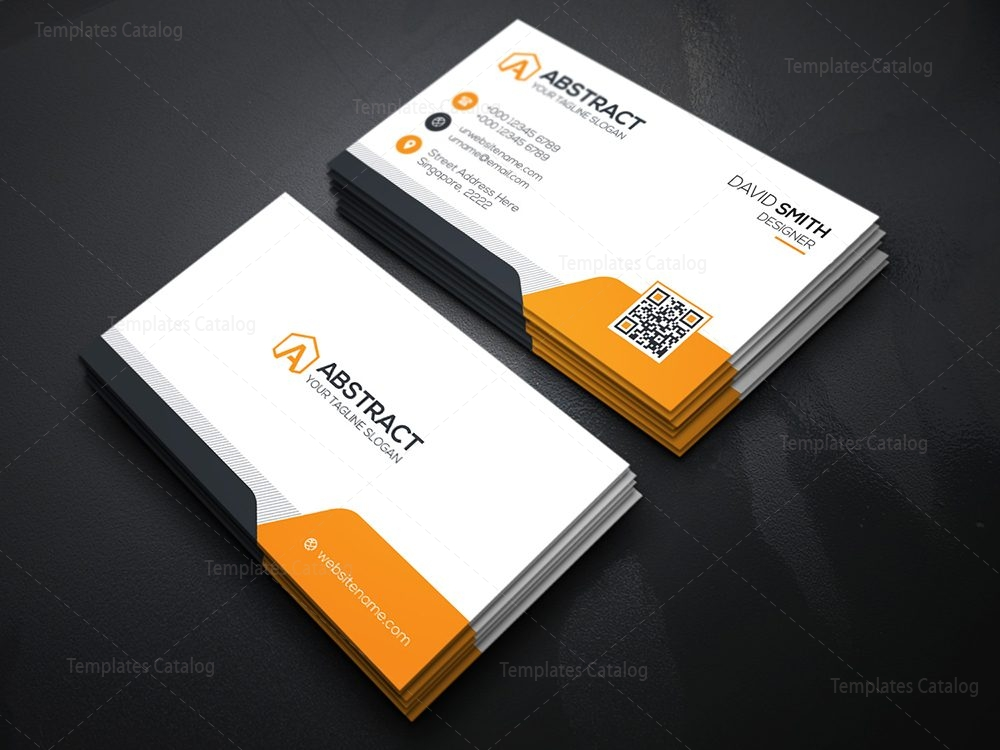 minimal business card template 2