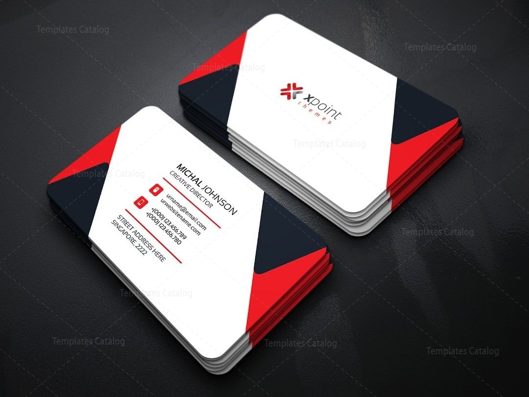 minimal corporate business card template 000160 template catalog. Black Bedroom Furniture Sets. Home Design Ideas