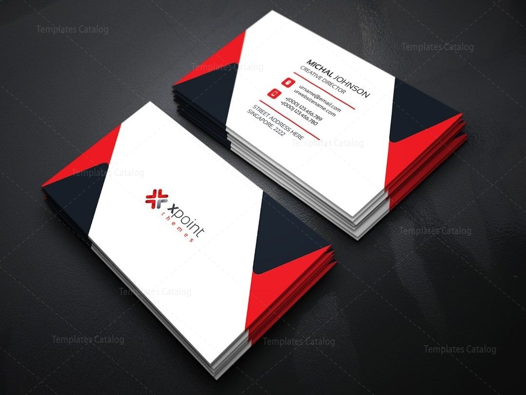 minimal corporate business card template 000160 template catalog