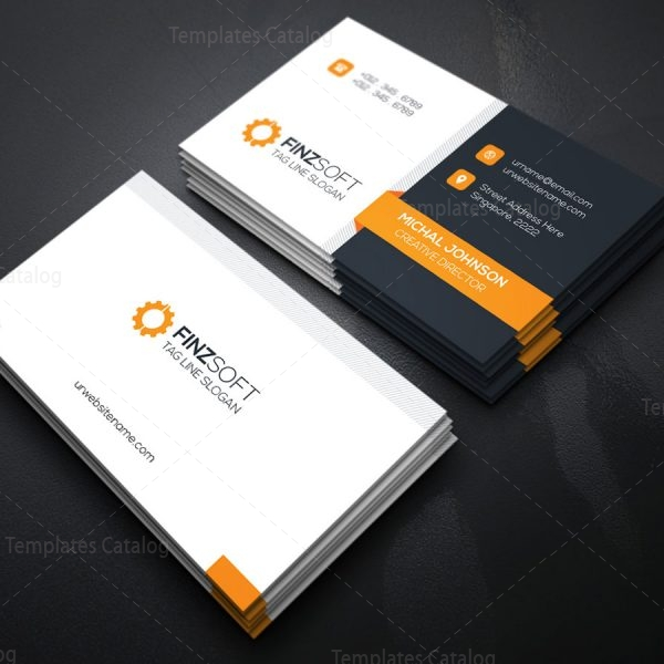 Modern Business Card Design Template Template Catalog