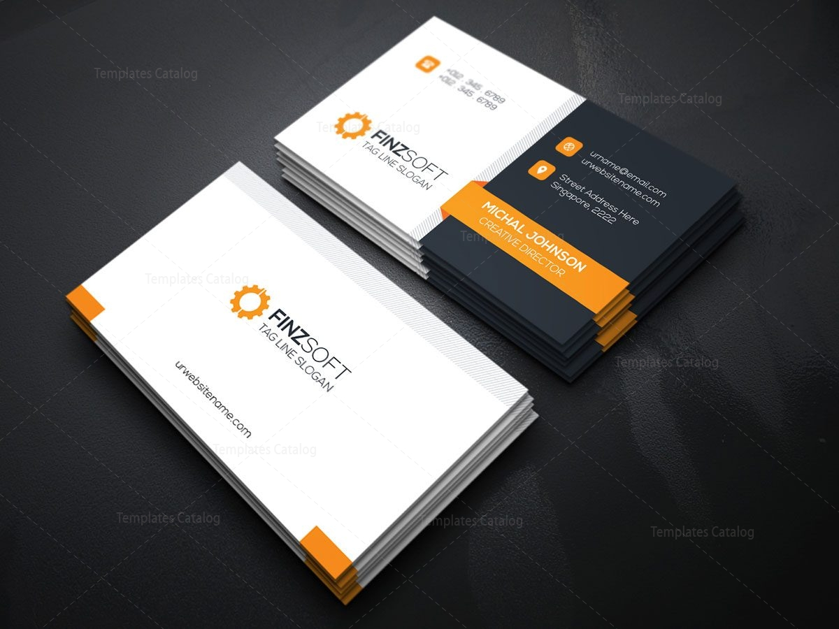 Modern Business Card Design Template 000155 Template Catalog