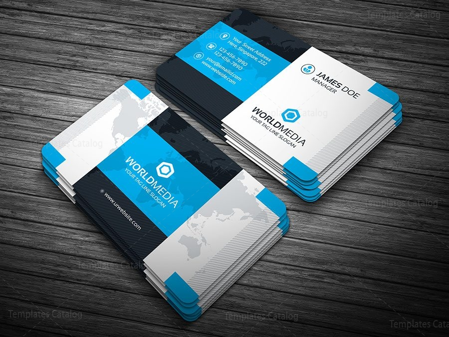 Modern Pro Business Card Template 000108 - Template Catalog