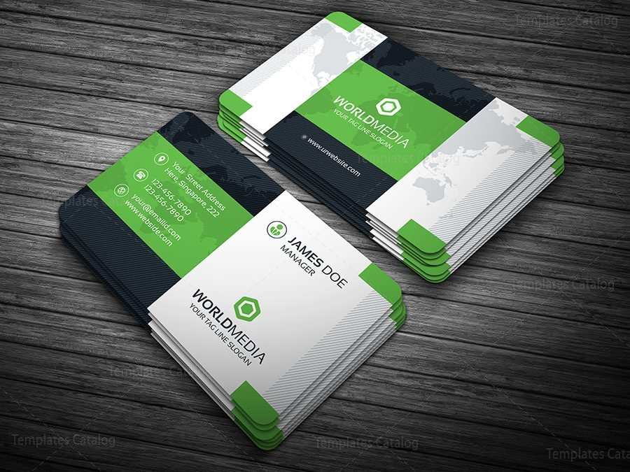 Modern pro business card template 000108 template catalog modern pro business card template green reheart Gallery