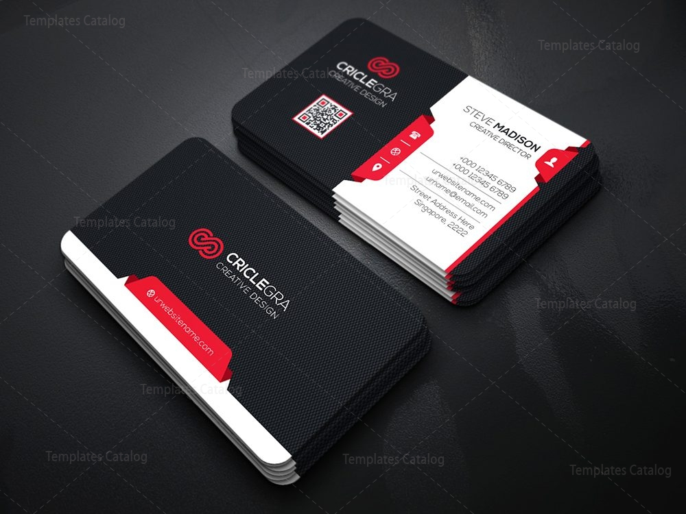 Modern technology business card template 000115 template for Modern business cards templates