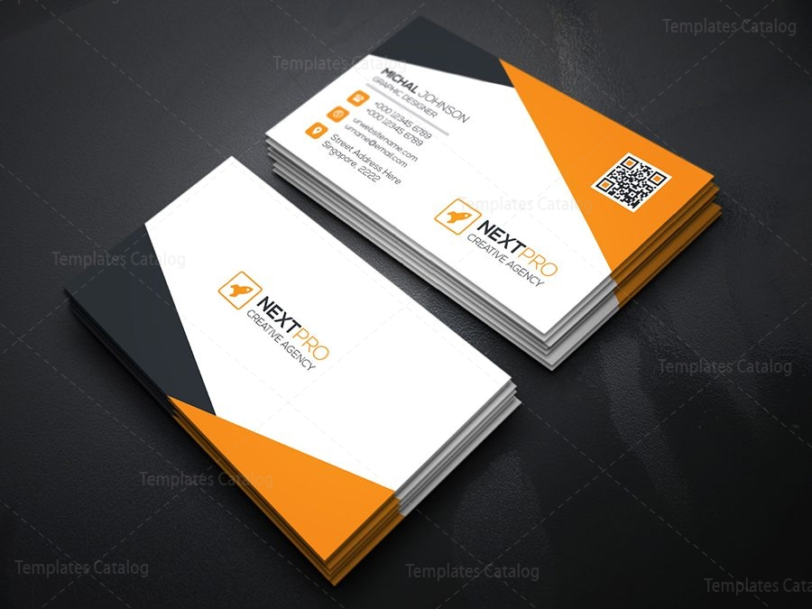 Psd corporate business card template 2 template catalog for Corporate business card templates