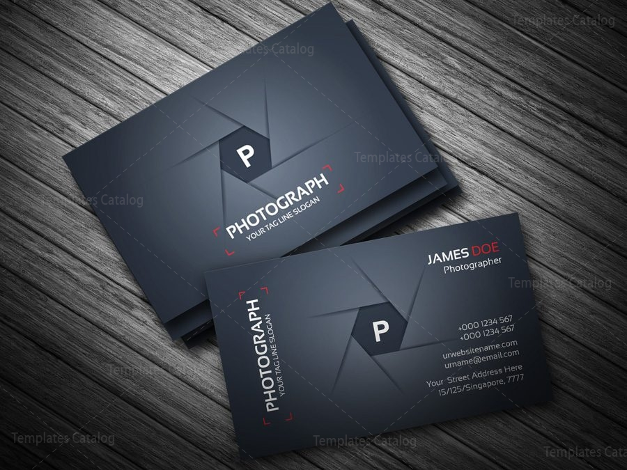 Photographer Business Card Template Template Catalog