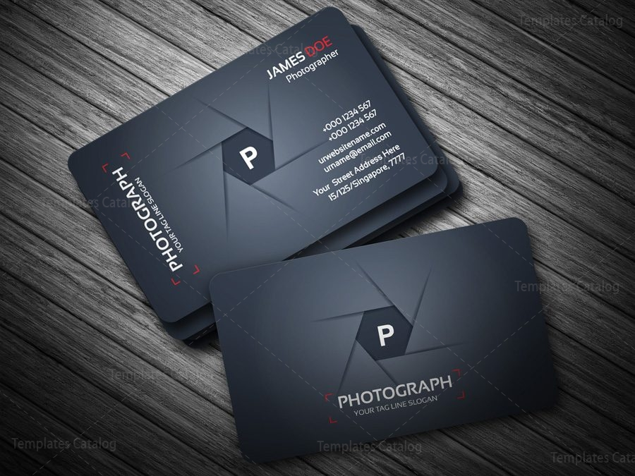 Photographer Business Card Template Template Catalog - Photography business card templates