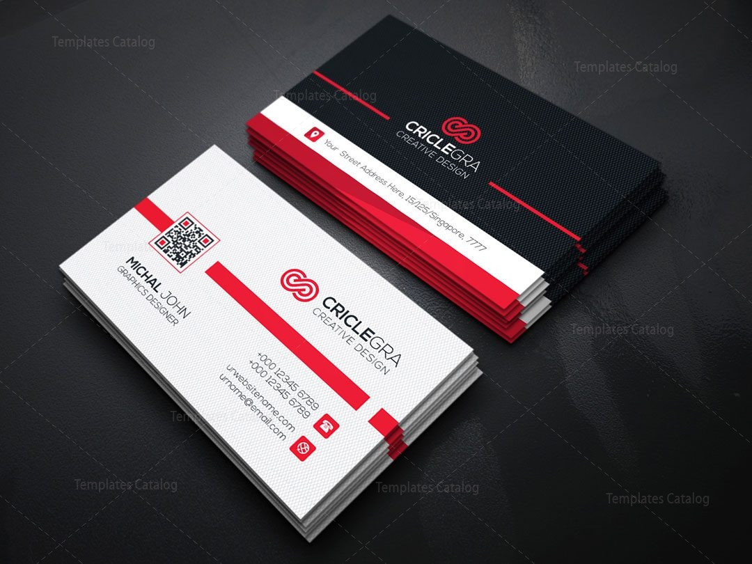 Qr code business card template 000151 template catalog qr code business card template 2 colourmoves Images