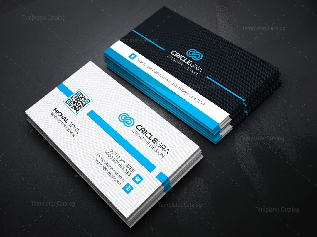 QR Code Business Card Template 000151 - Template Catalog