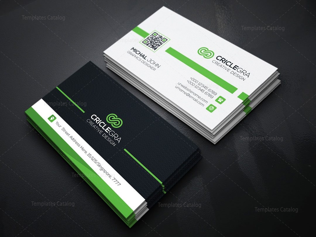 Qr code business card template 000151 template catalog qr code business card template 5 reheart Gallery