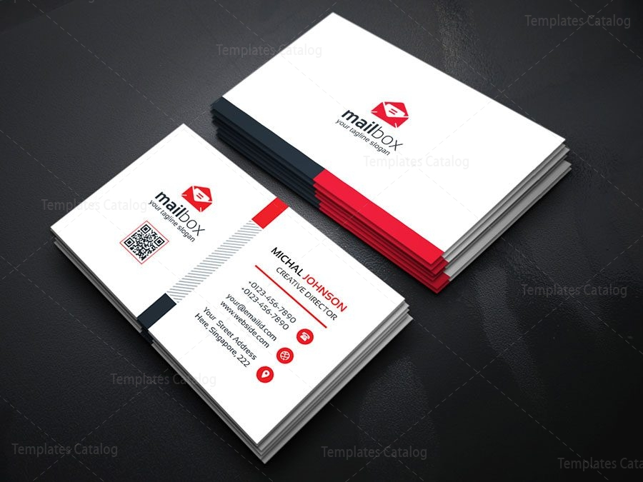 Simple business card design template 000157 template catalog simple business card design template 2 fbccfo Choice Image