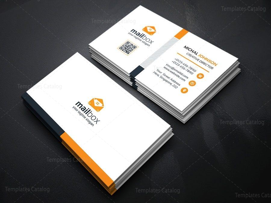 Simple business card design template 000157 template catalog for Simple business card designs