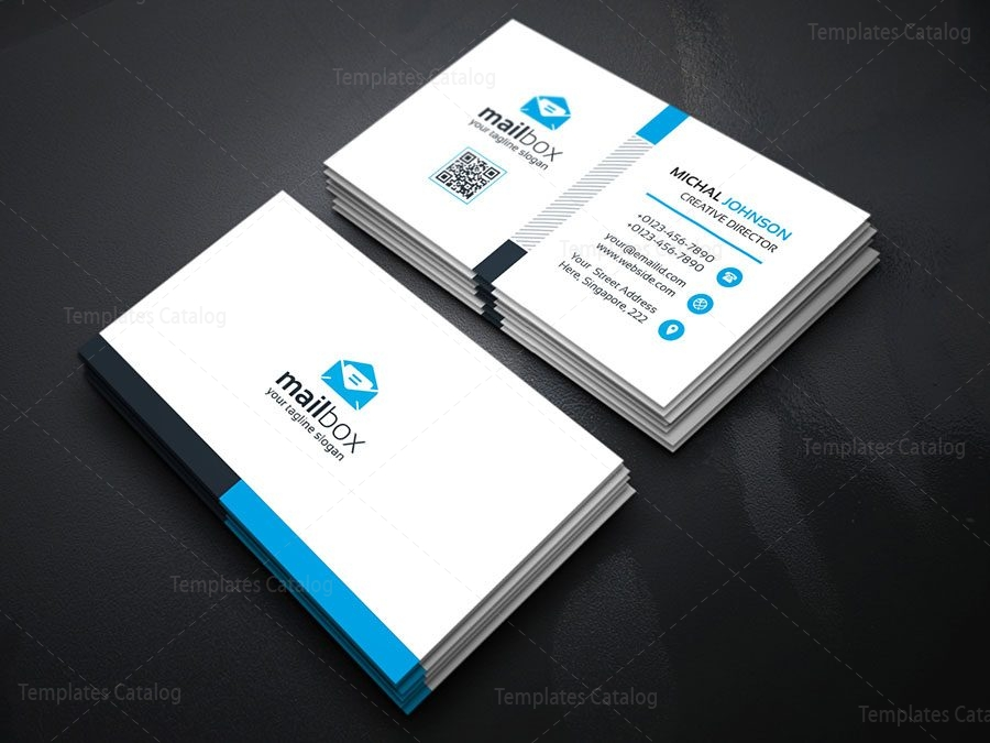 Simple Business Card Design Template 000157