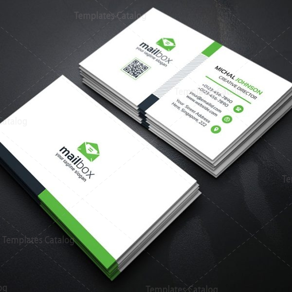 simple business card design template 000157 template catalog